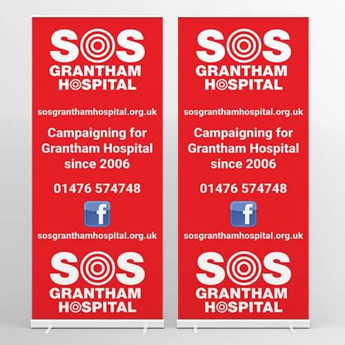 sos-grantham-hospital-roller-banners