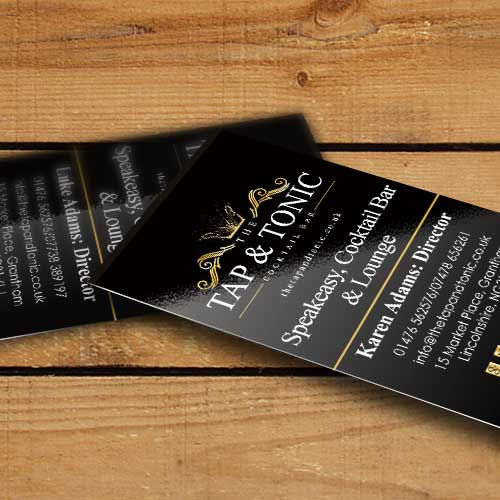 Tap & Tonic Business Cards