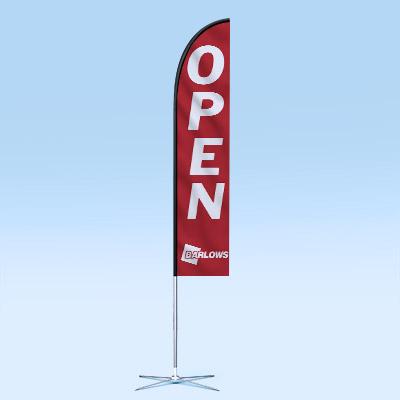 Web Design UK Barlows Agri Feather Flags