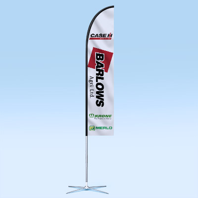 Web Design UK Barlows Agri Feather Flags