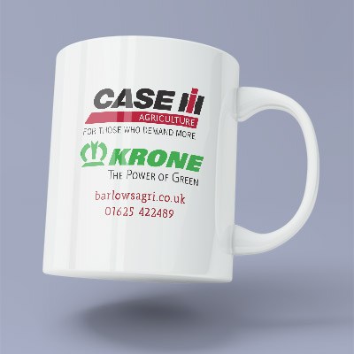 Web Design UK Barlows Agri Promotional Mugs Cards