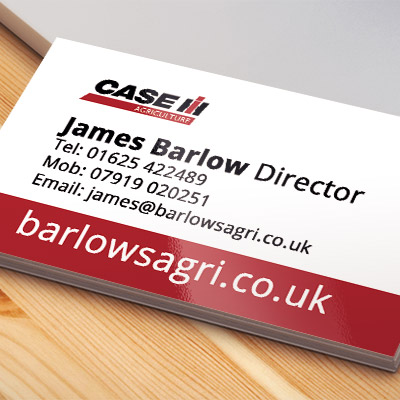 Web Design UK Barlows Agri Business Cards