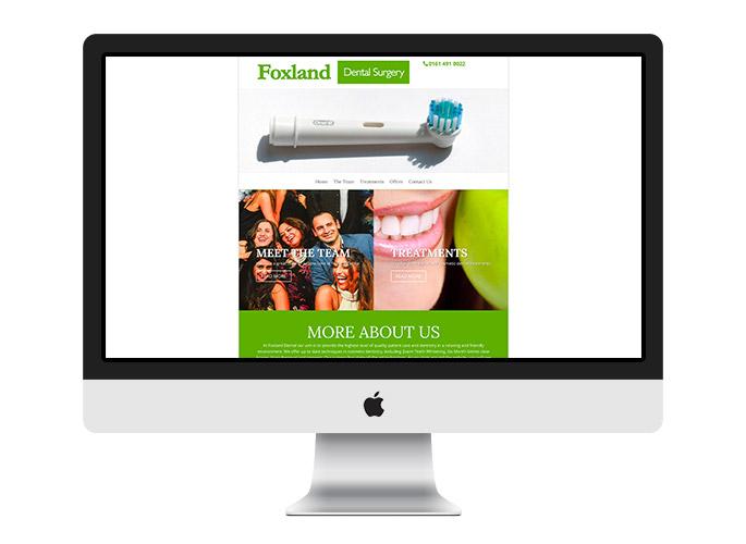 Web Desing UK Portfolio Foxland Dental