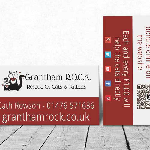 Web Design UK Business Printing Grantham ROCK Business Cards