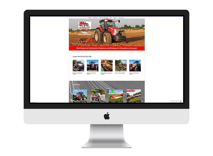 Web Desing UK Portfolio HJR Agri
