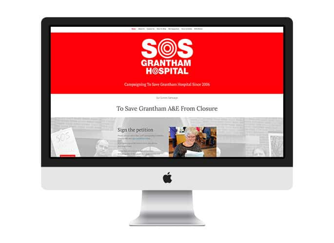 Web Desing UK Portfolio SOS Grantham Hospital