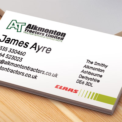 Web Design UK Business Printing Alkmonton Tractors Business Cards