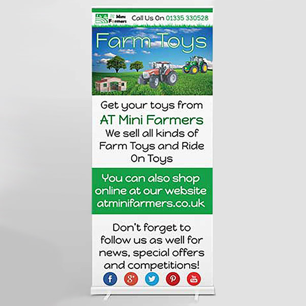 Web Design UK Business Printing AT Mini Farmers Roller Banners