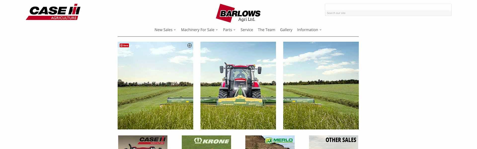 Web Design UK Portfolio Barlows Agri