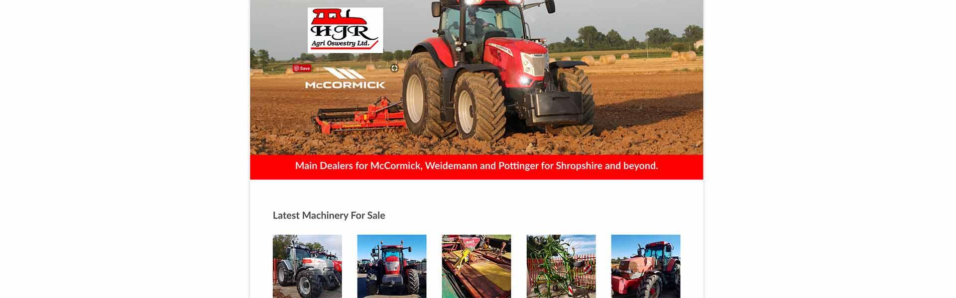 Web Design UK Portfolio HJR Agri