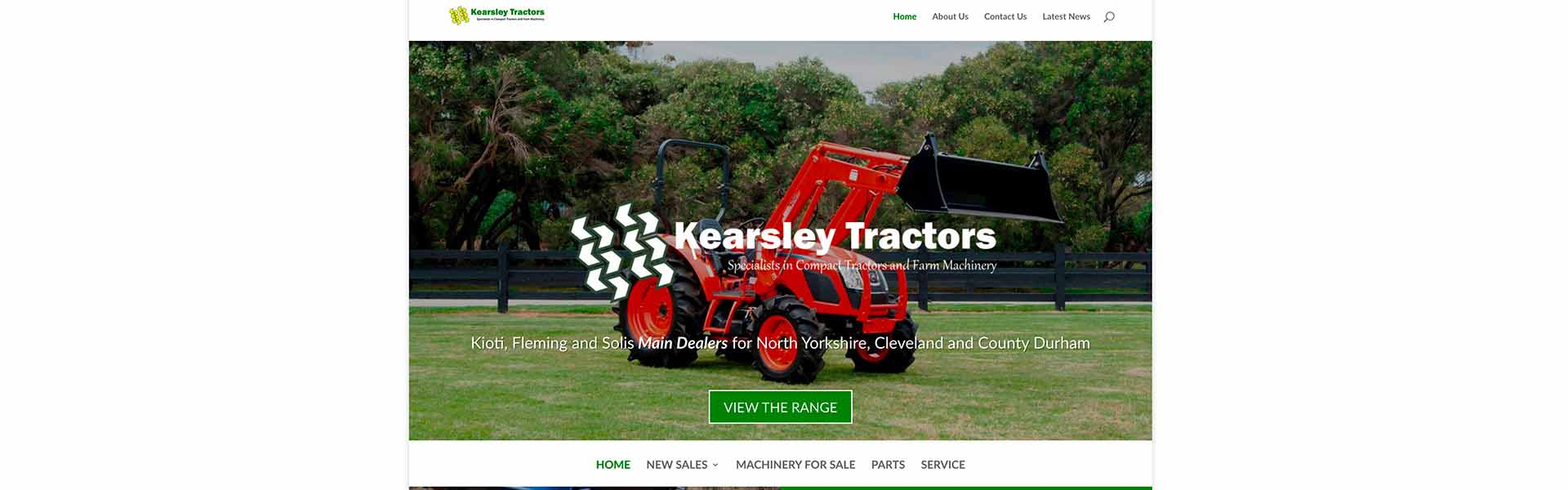 Web Design UK Portfolio Kearsley Tractors