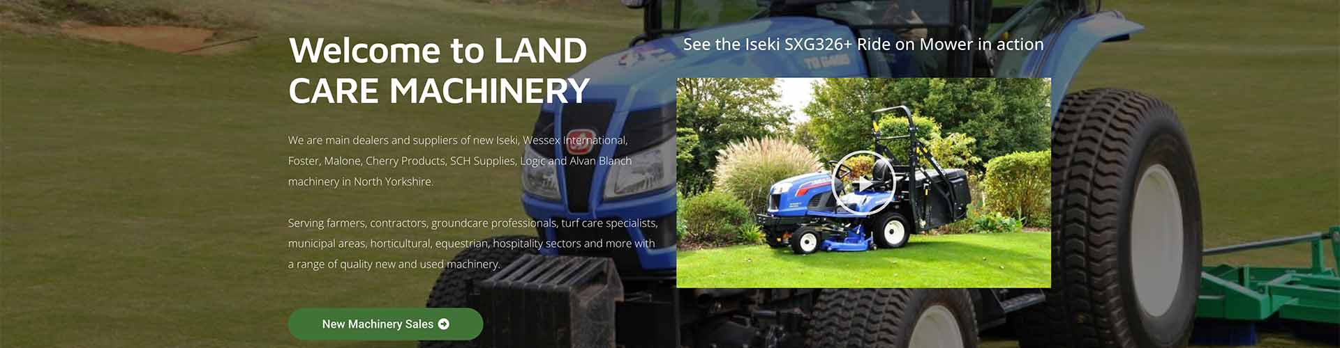 Web Design UK Portfolio Land Care Machinery