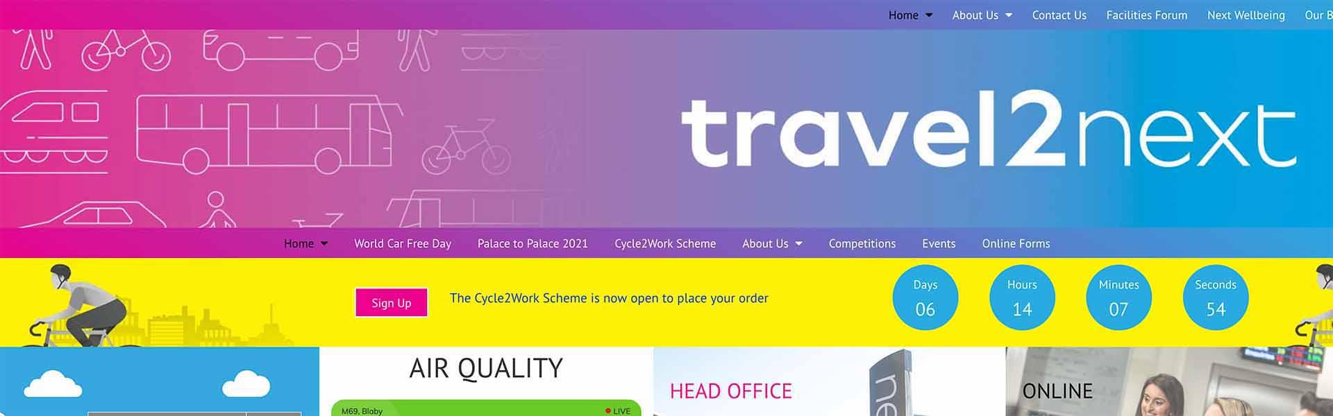 Web Design UK Portfolio Travel2Next