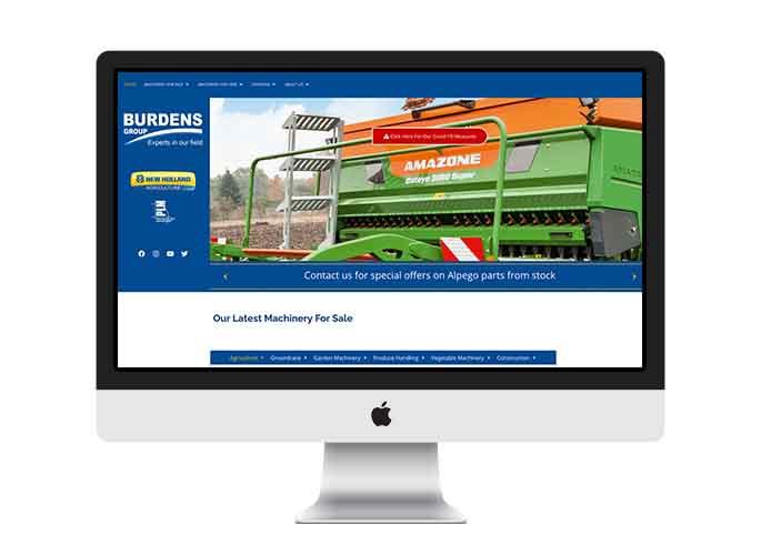 Web Design UK Portfolio Burdens Group Limited