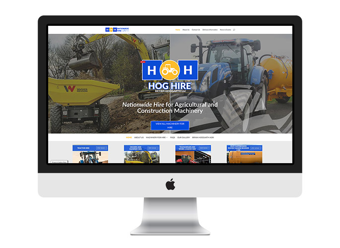 Web Design UK Portfolio Hog Hire Tractors